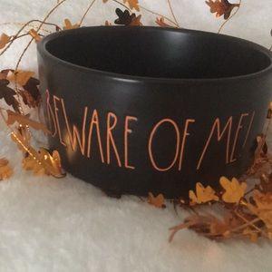 "Rae Dunn Halloween ""BEWARE OF ME!"" Dog Pet Bowl"